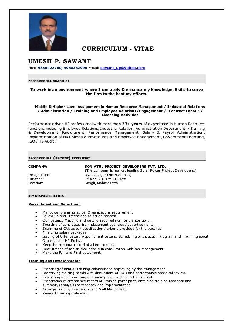 Tolle Lebenslauf Profil Statement Human Resources Ideen - Entry ...