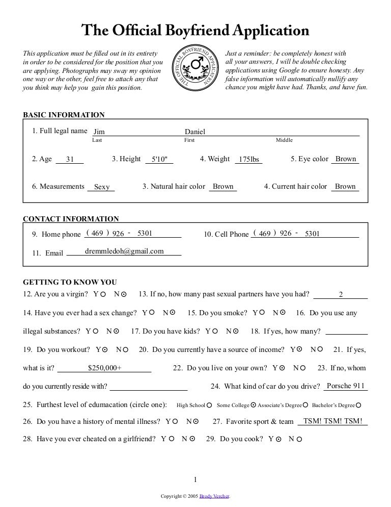 Bf form
