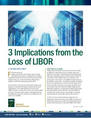 3 Implications from the Loss of LIBOR