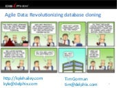 "BGOUG  ""Agile Data: revolutionizing database cloning'"
