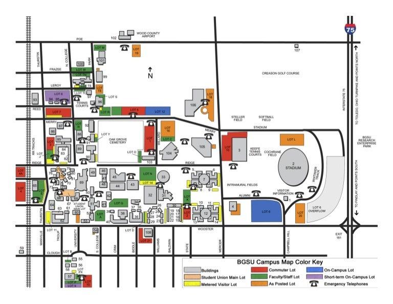 bowling green state university campus map Bgsu Campus Map bowling green state university campus map