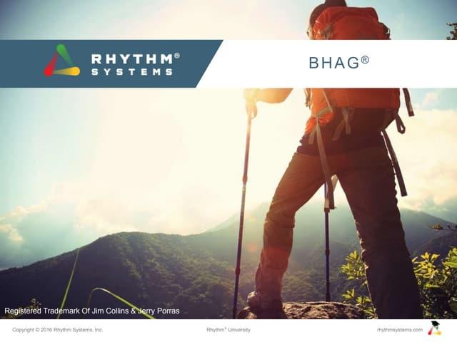 BHAG for Rhythm University