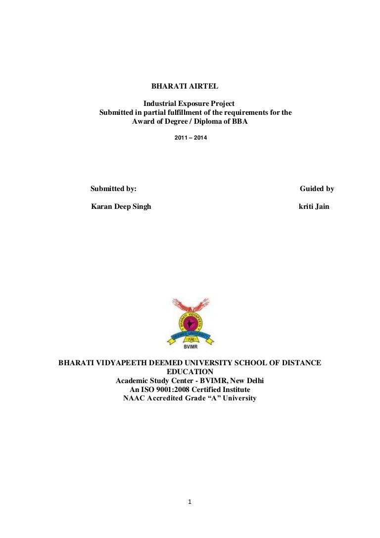 Bharati Airtel Final Project 1