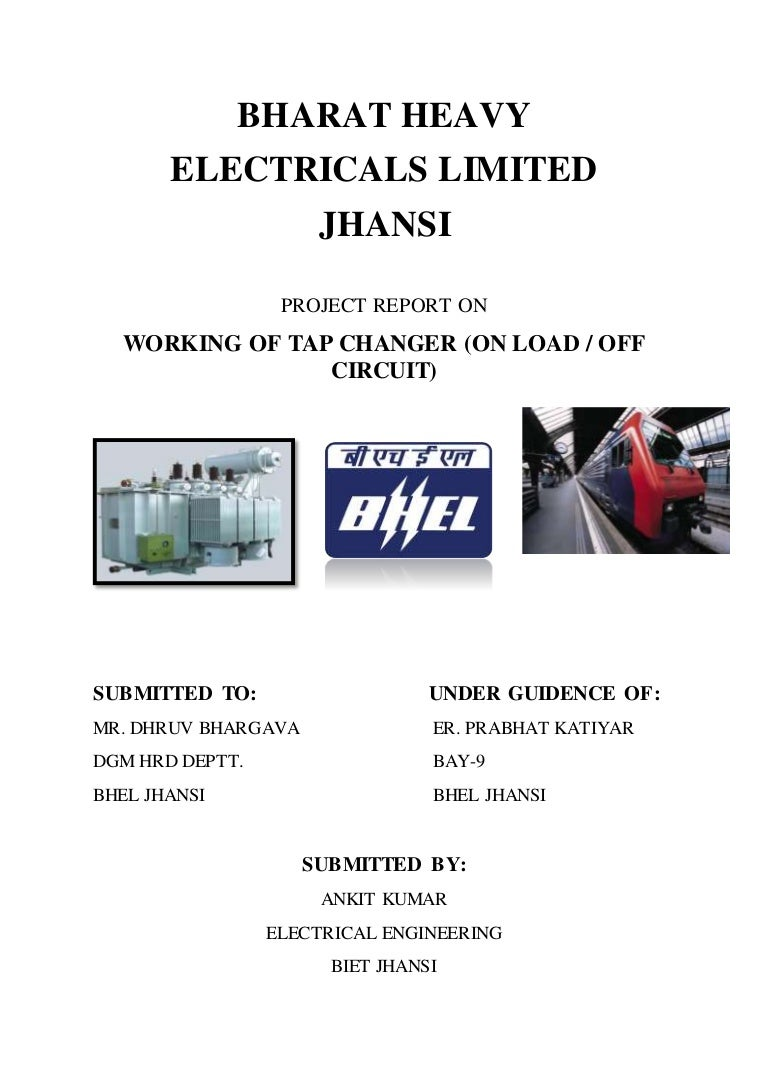 Report On Oltc By Ankit Drytype Transformer Testing Open Electrical