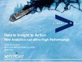 Data to Insight to Action: How Analytics can drive High Performance