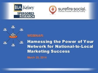 Harnessing the Power of Your Network for National to Local Marketing Success