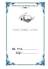 Bia tieng anh toefl grammar review
