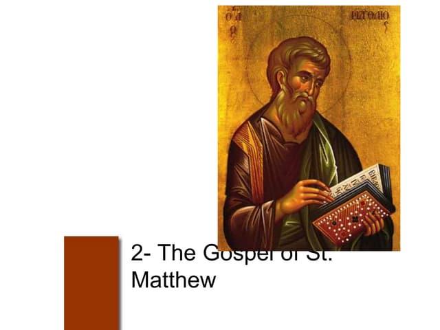 Bible course -st matthew