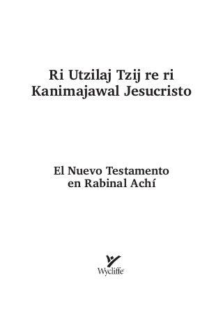 bibleinachrabinalrabinalkicherabinalach-