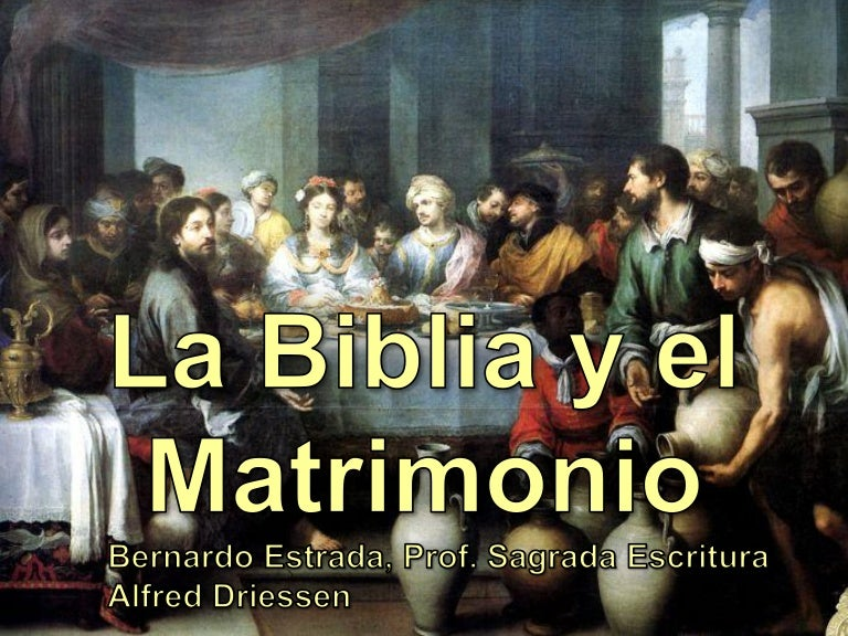Matrimonio Segun Biblia : Biblia y matrimonio