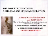 The Poverty of the Nations: A Biblical and Economic Solution by Wayne Grudem  and Barry Asmus