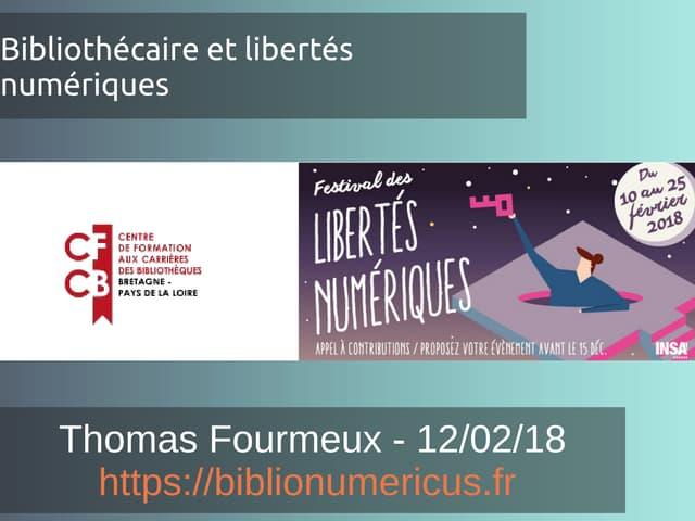 Bibliothécaires et libertés numériques