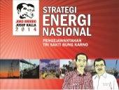 Bidang energi indonesia pandangan atau visi serta misi jokowi jk