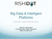 Big data and intelligent platforms
