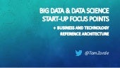 Big data + data science startup focus points