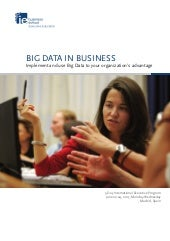 BIG DATA IN BUSINESS Implement and use Big Data to your organization's advantage