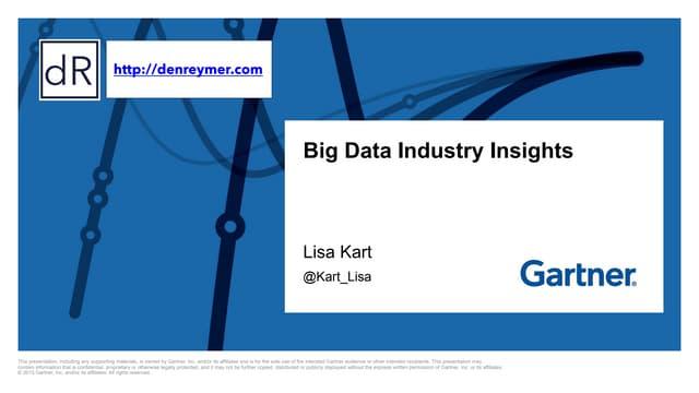 Big Data Industry Insights 2015