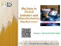 Big Data in Industry and Manufacturing Market 2021