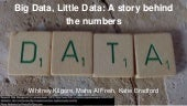 Big data, little data  a story behind the numbers