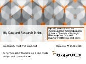 Big Data and Research Ethics