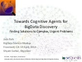 Towards Cognitive Agents for BigData Discovery
