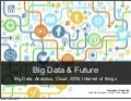 Big Data & Future - Big Data, Analytics, Cloud, SDN, Internet of things