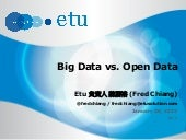 Big Data vs. Open Data