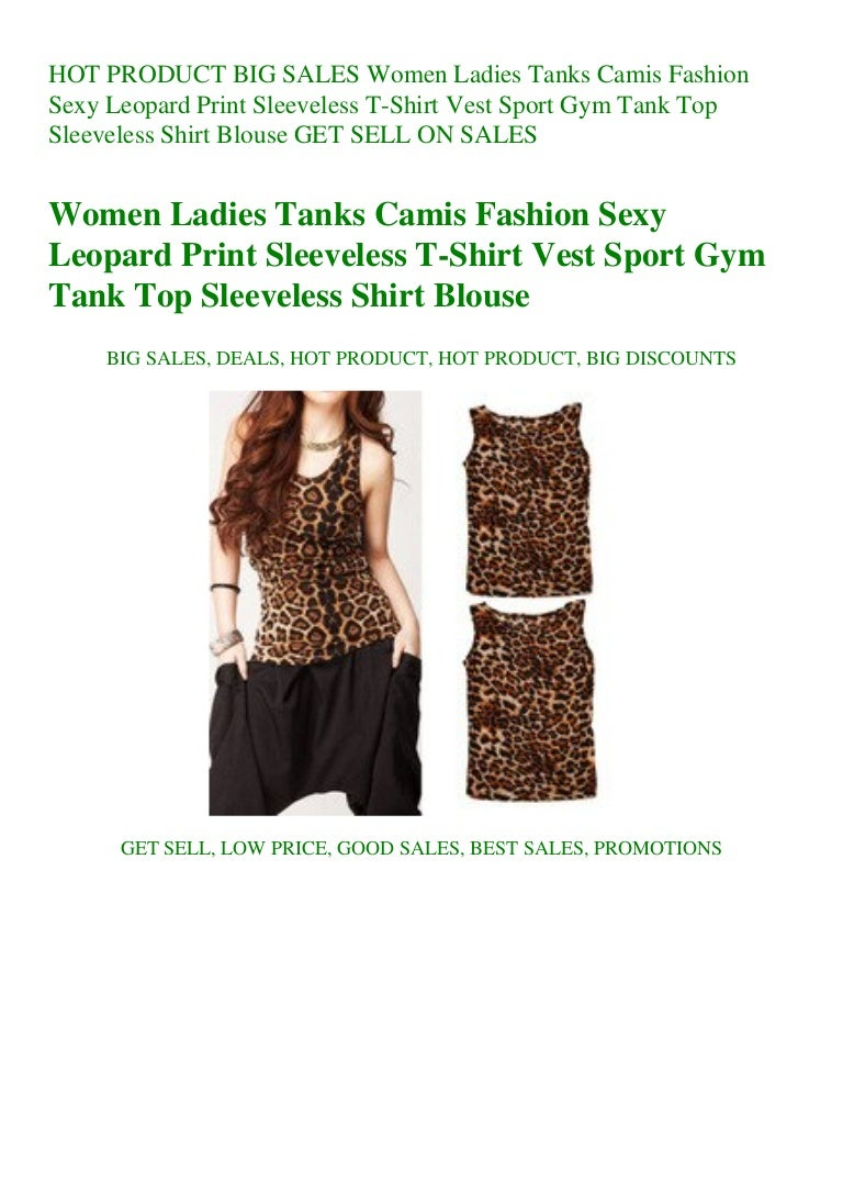 BIG SALES Women Ladies Tanks Camis Fashion Sexy Leopard Print Sleevel…