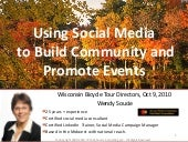 Using Social Media to Build Community and Promote Your Event