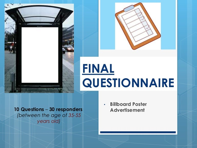 Billboard Poster Advertisement (Final Questionnaire)