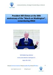 "President Bill Clinton, 50th Anniversary of #MLK's ""March on Washington"" speech"