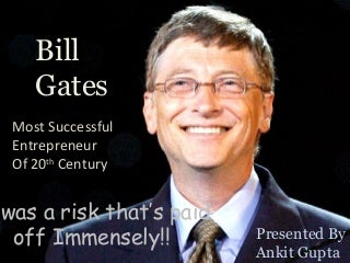How was Bill Gates lucky and how did he show determination? (10 PTS FOR BEST ANSWER)?