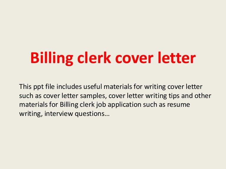 Billing Cover Letter
