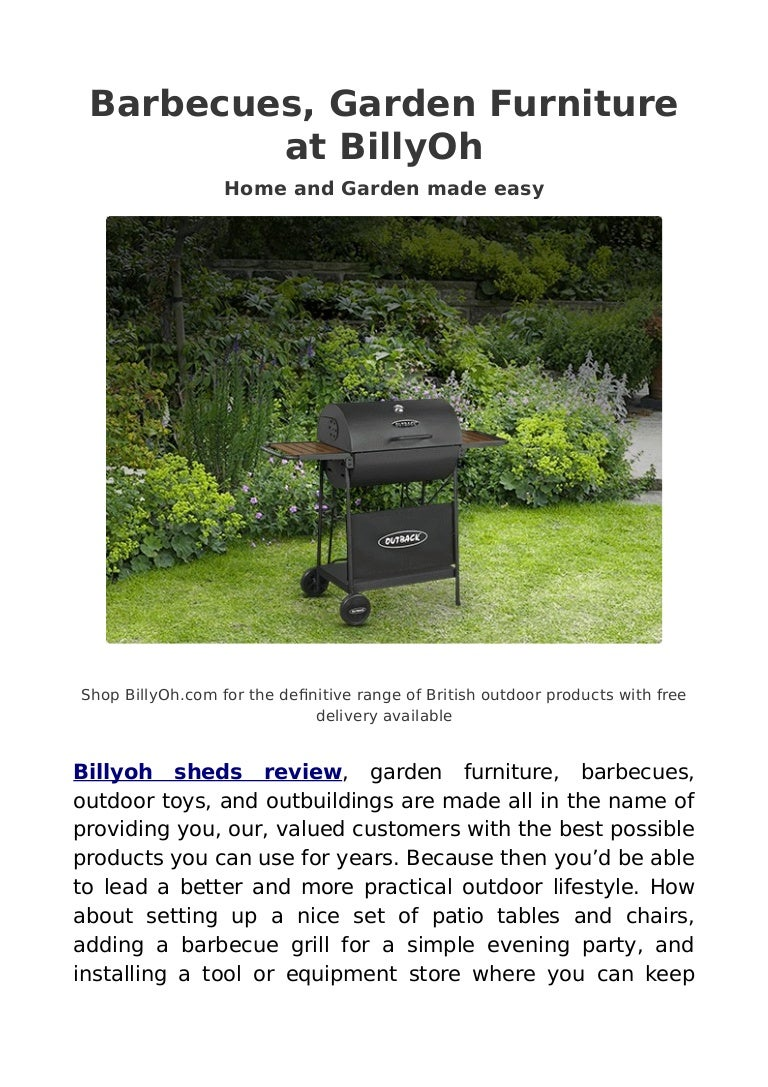 Billyoh sheds review garden buildings direct kybotech reviews
