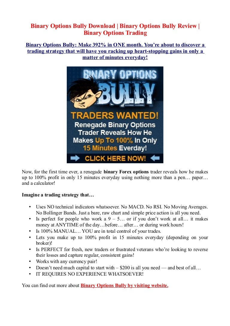 Binary options bully strategy
