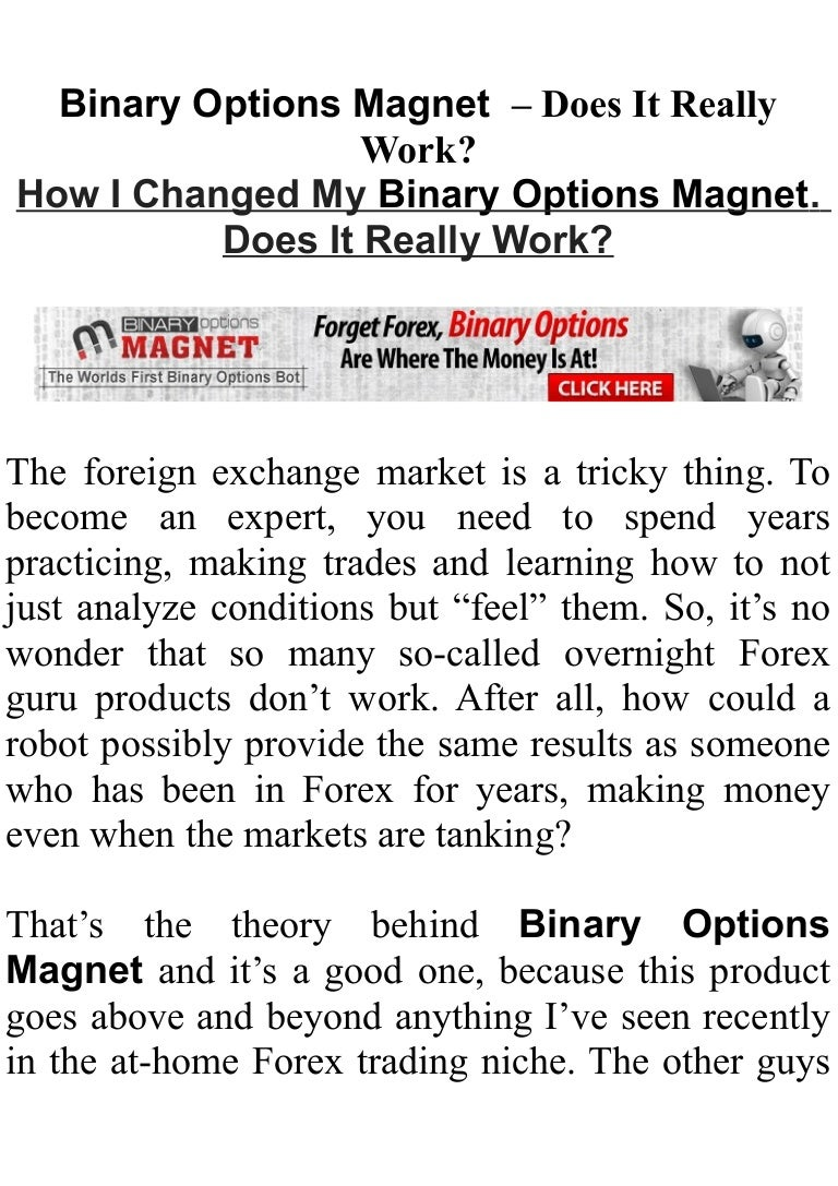 Binary options magnet strategy betting odds calculator
