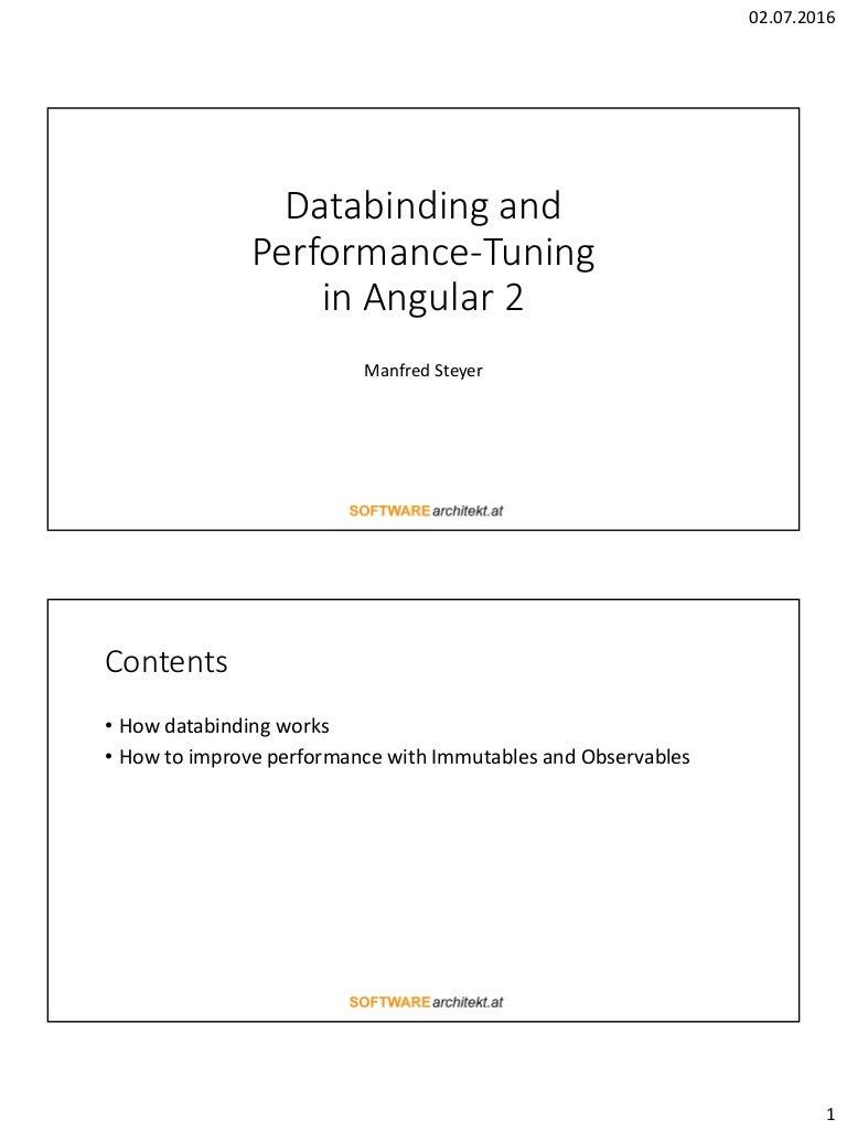 Angular2 入門 databinding and performance-tuning in angular 2