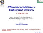 A Wider Role for Statisticians in Biopharmaceutical Industry