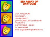 Bioassay of oxytocin for students