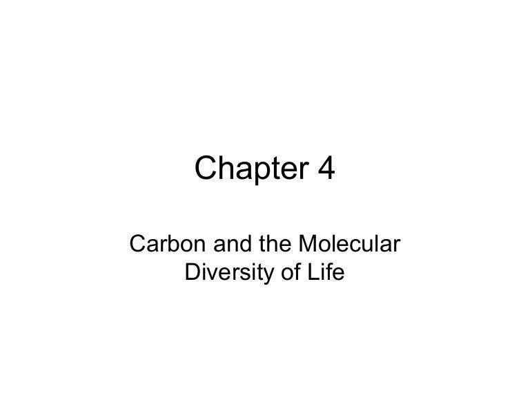 Bio chapter 4 – Carbon