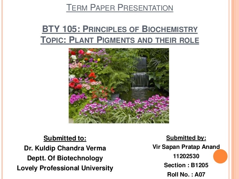 Biochem term paper topics
