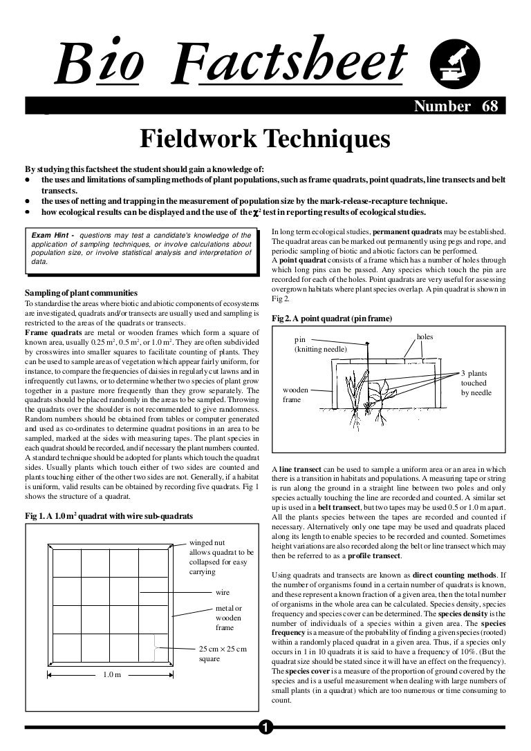 Biofactsheet fieldworktech