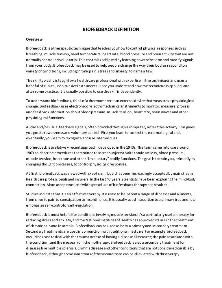 Biofeedback definition