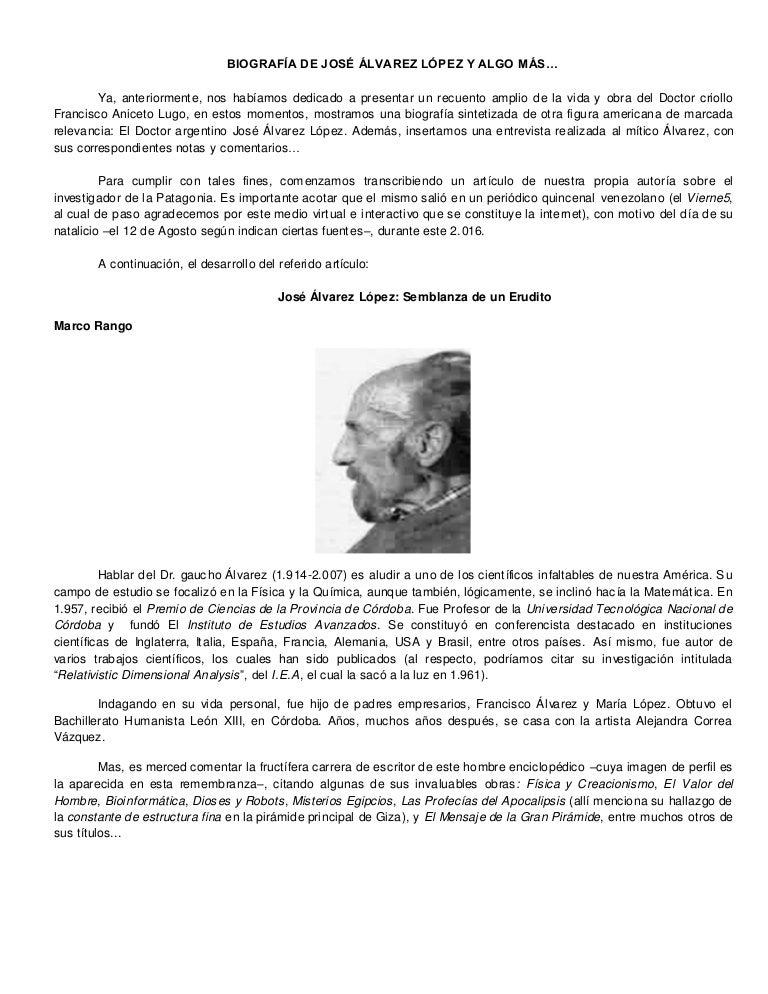 Biografía de josé álvarez lópez