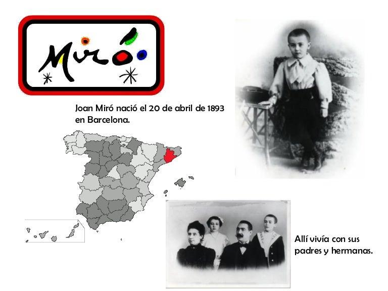 Biografía Miró Para Niños