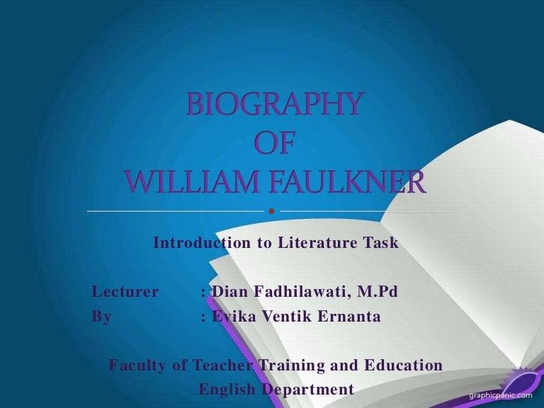 biographical essay of william faulkner