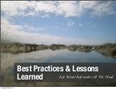 Bio-IT Asia 2013: Informatics & Cloud - Best Practices & Lessons Learned