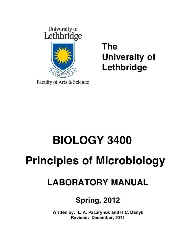 Biol3400 labmanual