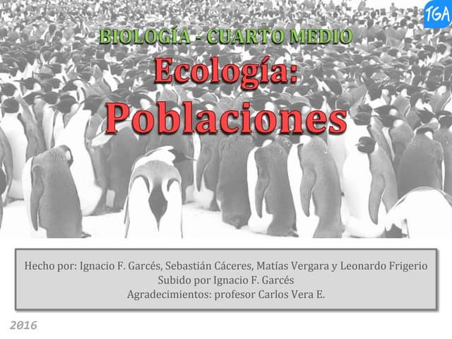 Biología 4° medio - Ecología, poblaciones