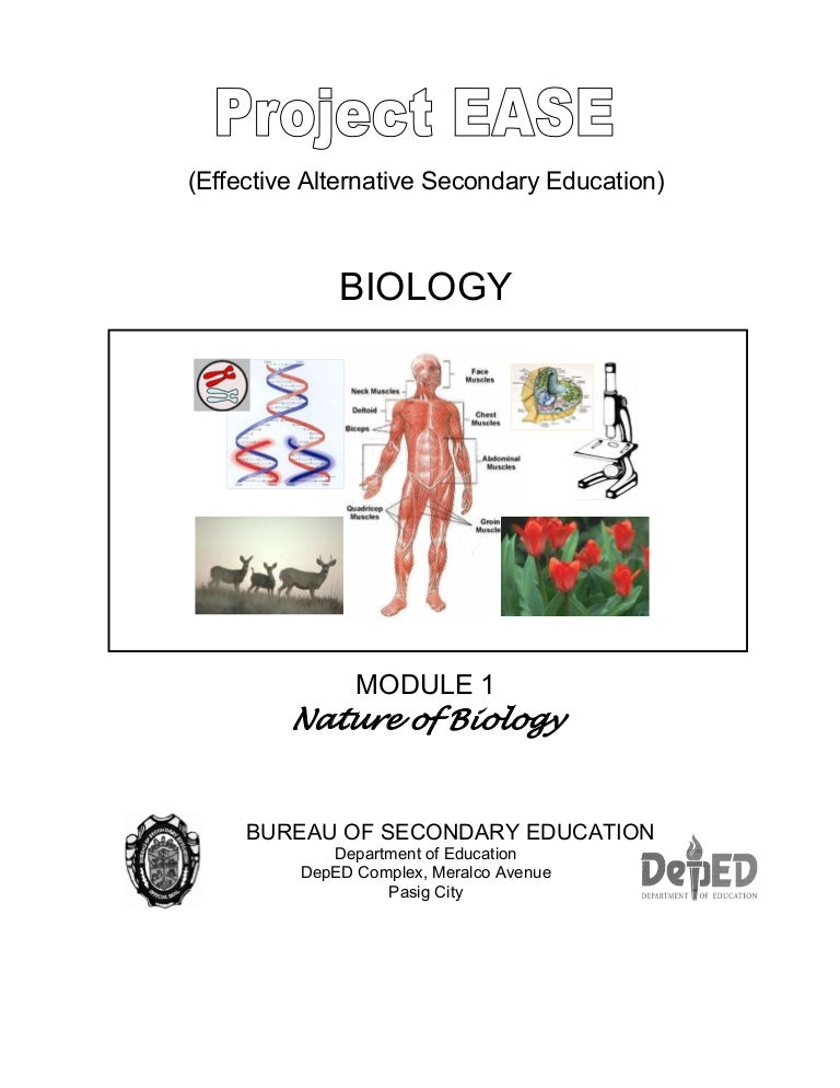 Biology M1 Nature Of Biology